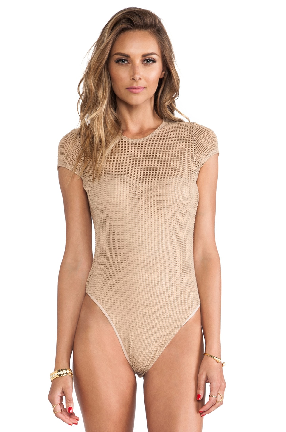 Blue Life Sahara Cap Sleeve One Piece in Sandstorm