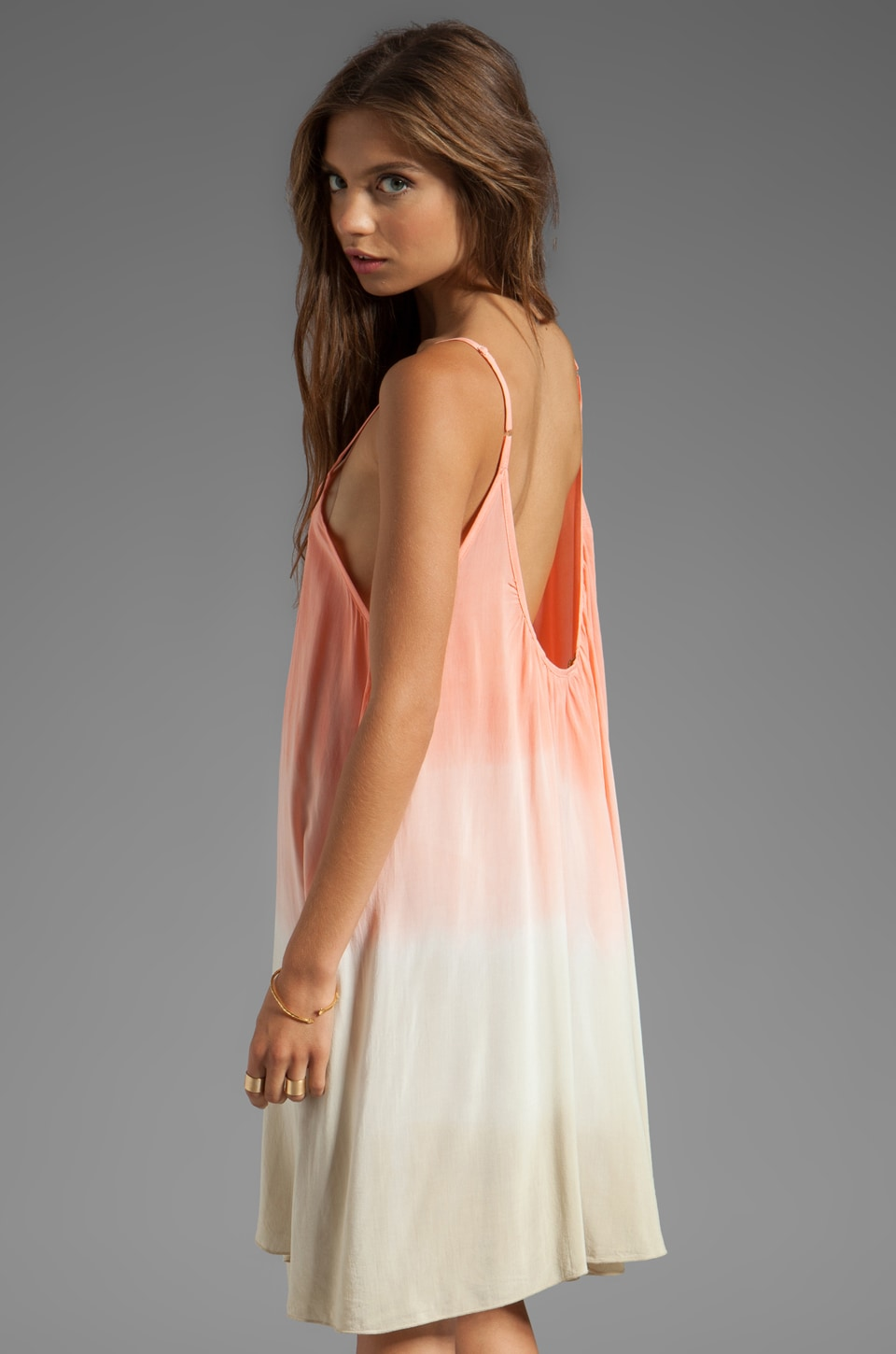 Blu Moon Baby Doll Tank Dress in Coral