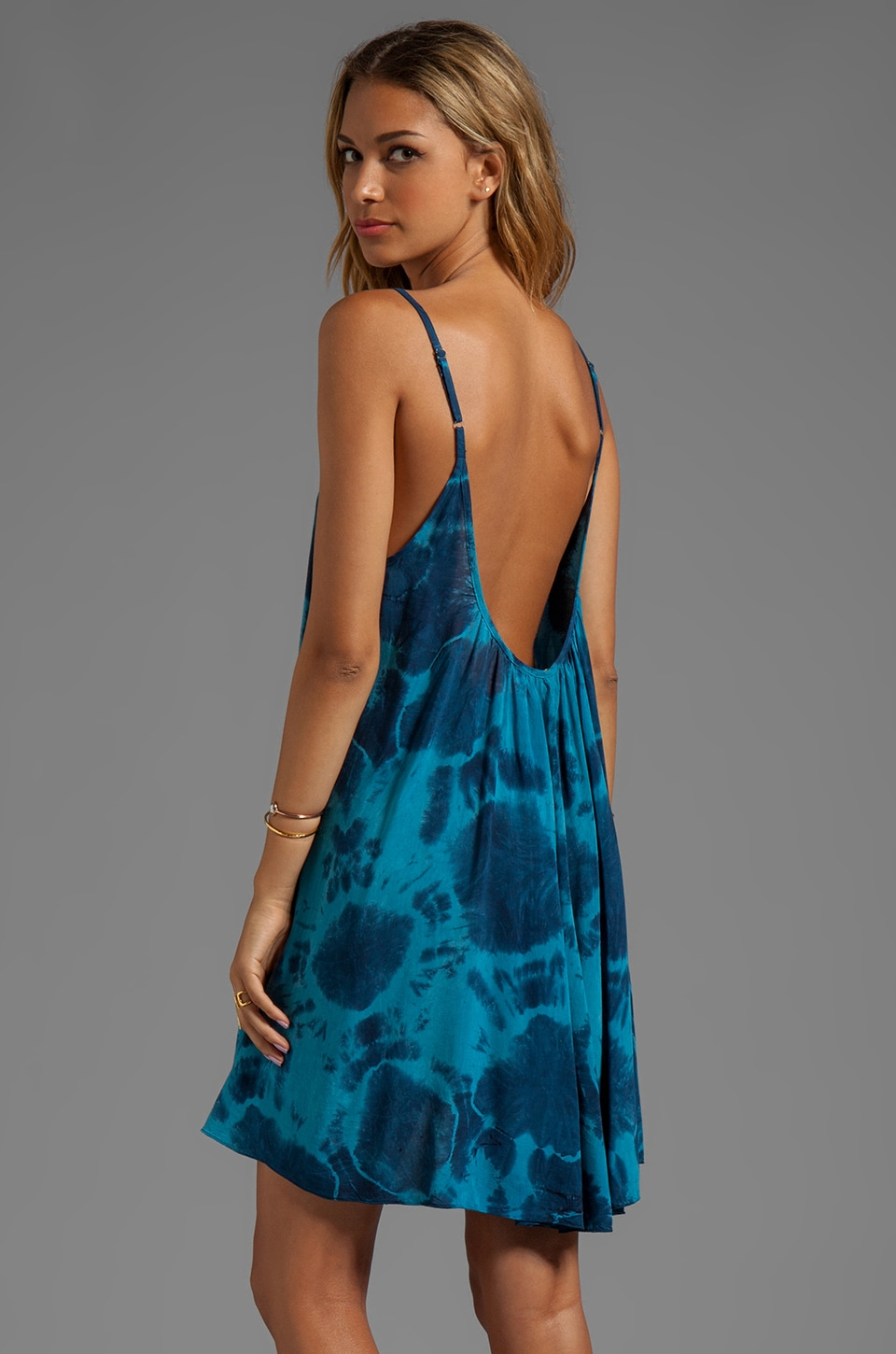 Blu Moon Babydoll Tank Dress in Infinity