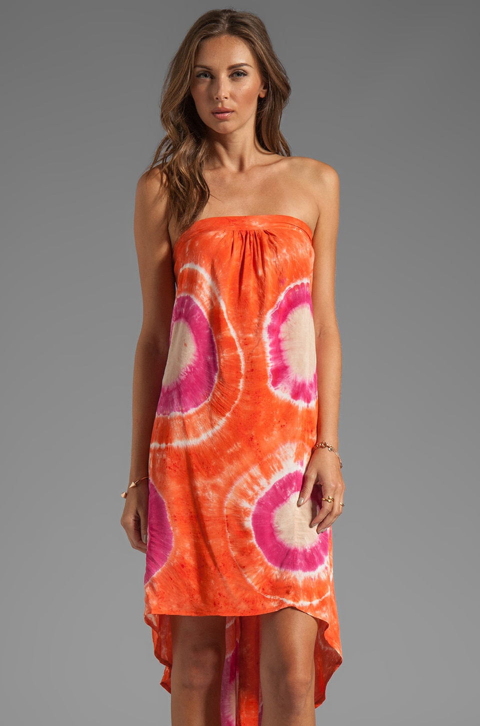 Blu Moon Open Back Tube Dress in Sunset