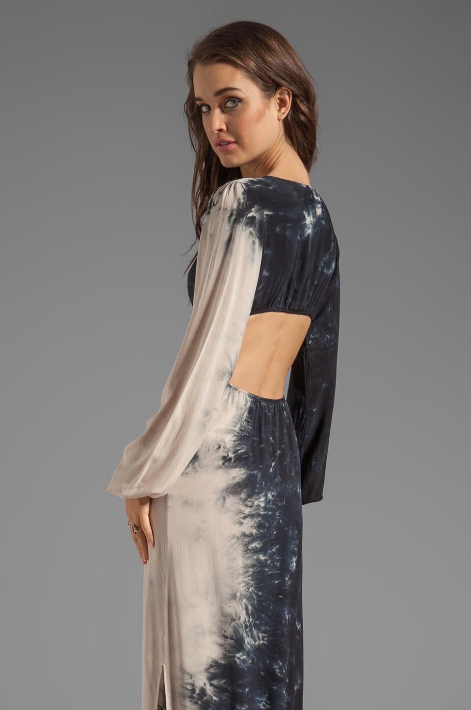 Blu Moon V-Neck Bell Sleeve Dress in Shadow