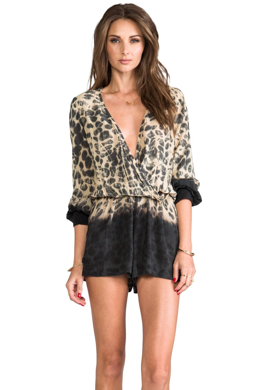 Blu Moon Boho Romper in Leopard