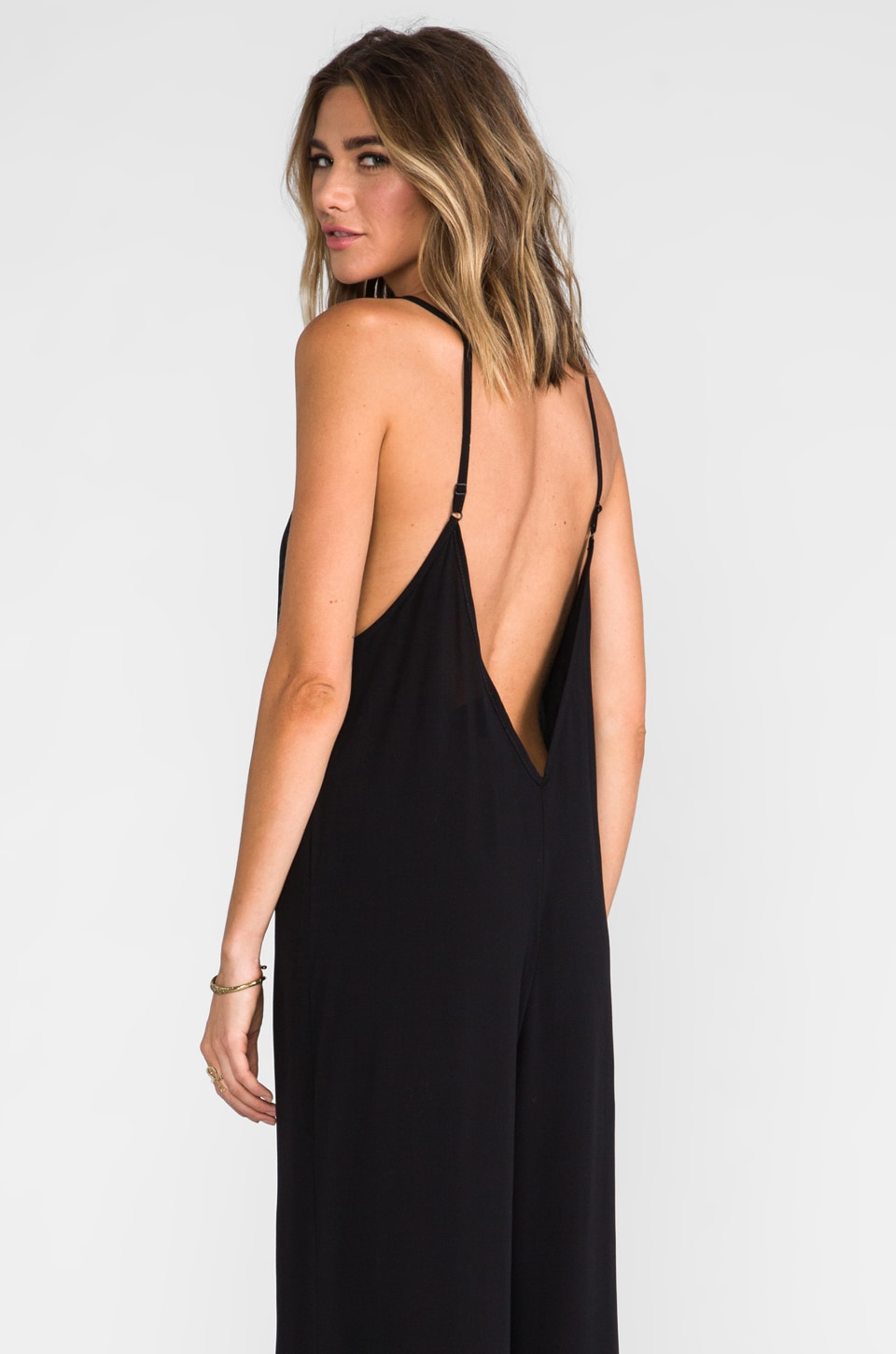 Blu Moon Deep V Jumper in Black
