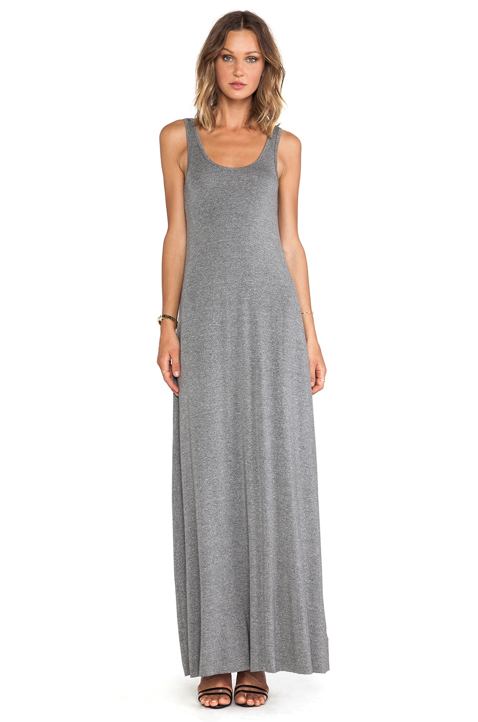 Bella Luxx Maxi Tank Dress in Ash Heather
