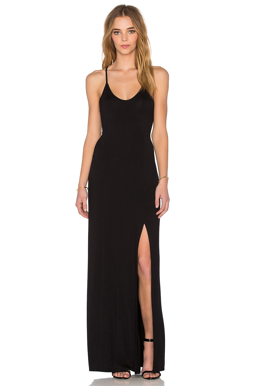 Bella Luxx Cross Back Maxi Dress in Black