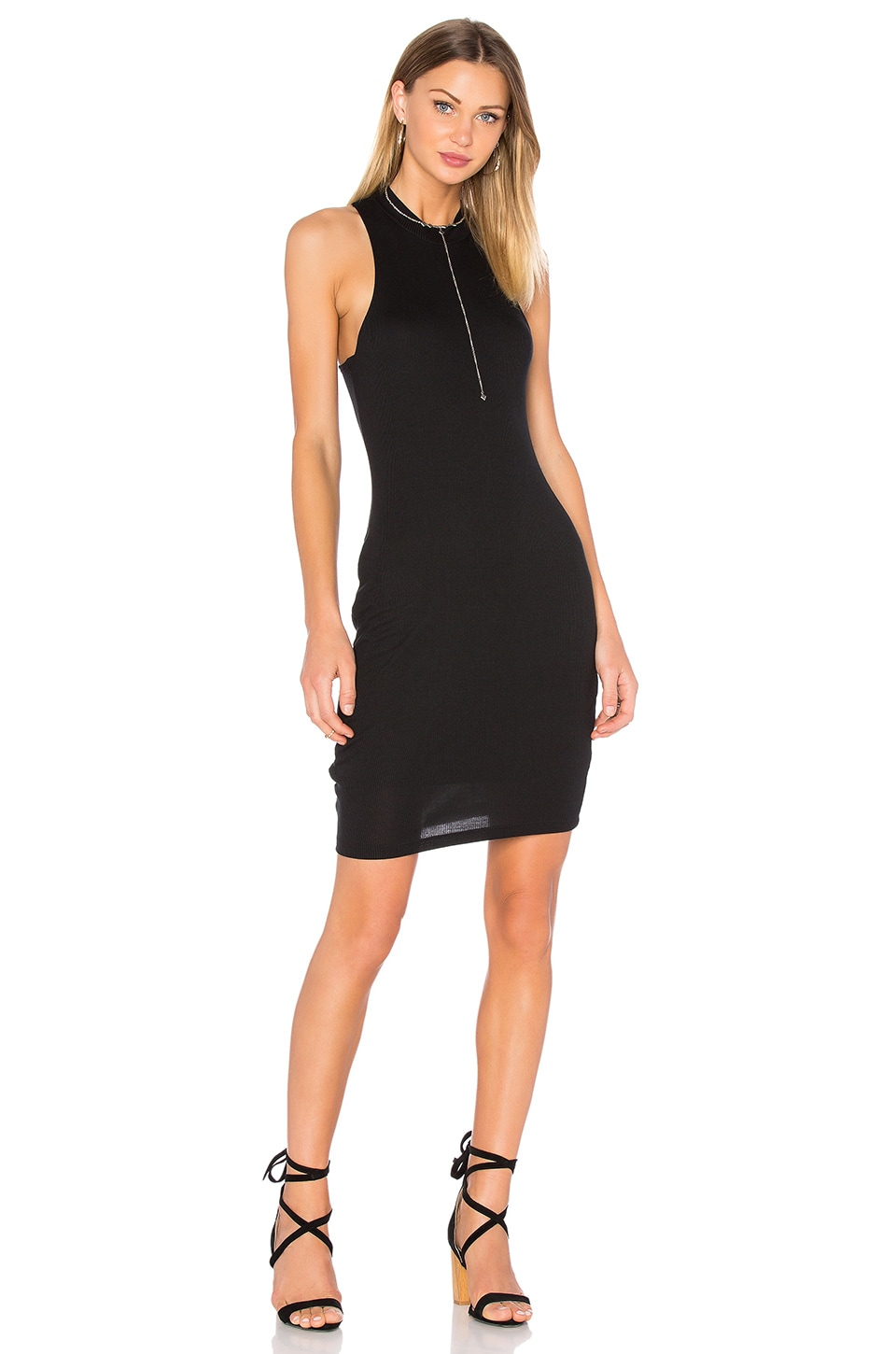 Bella Luxx High Neck Tank Dress in Black
