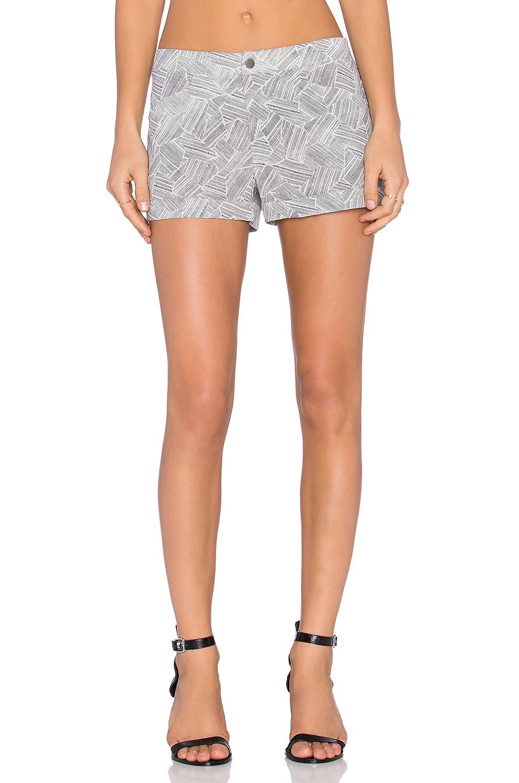 Bella Luxx Flat Front Trouser Short in Jacmel Print