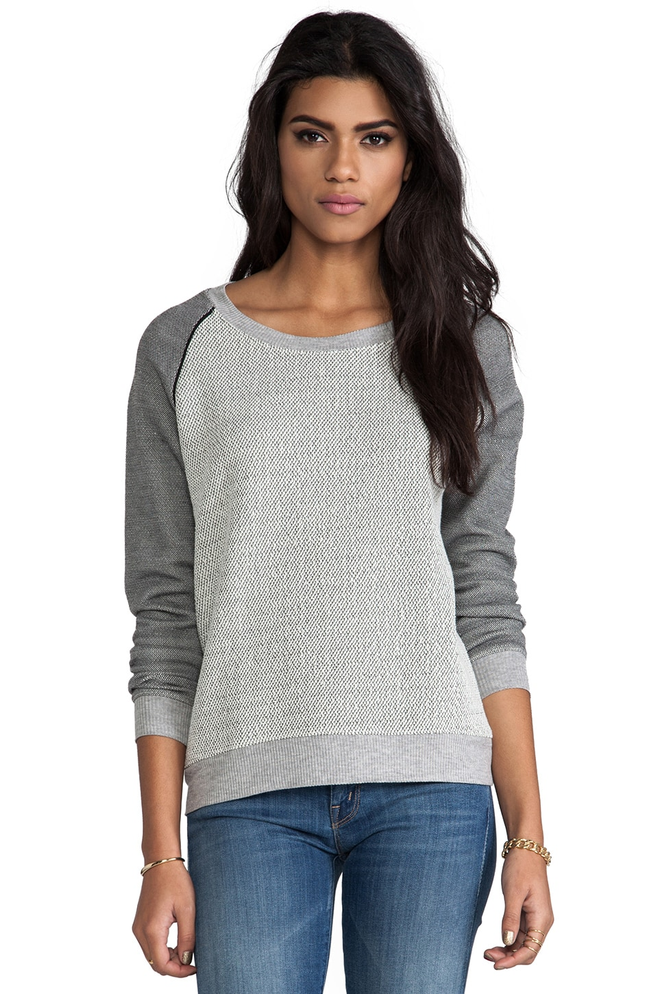 Bella Luxx Oversized Raglan Pullover in Natural