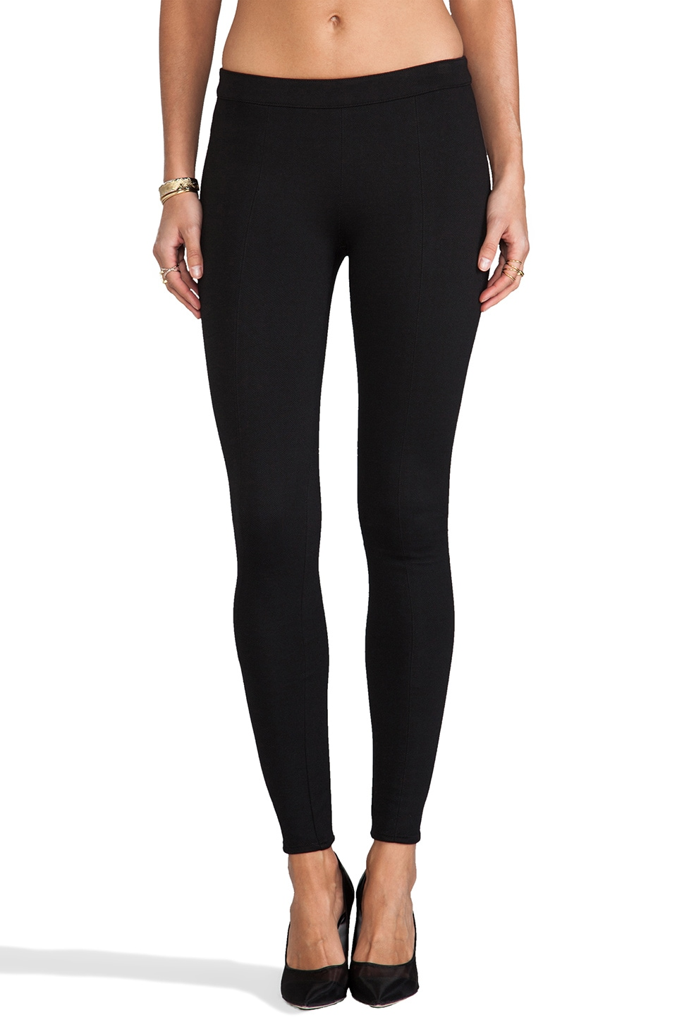 Bella Luxx Classic Twill Legging in Black