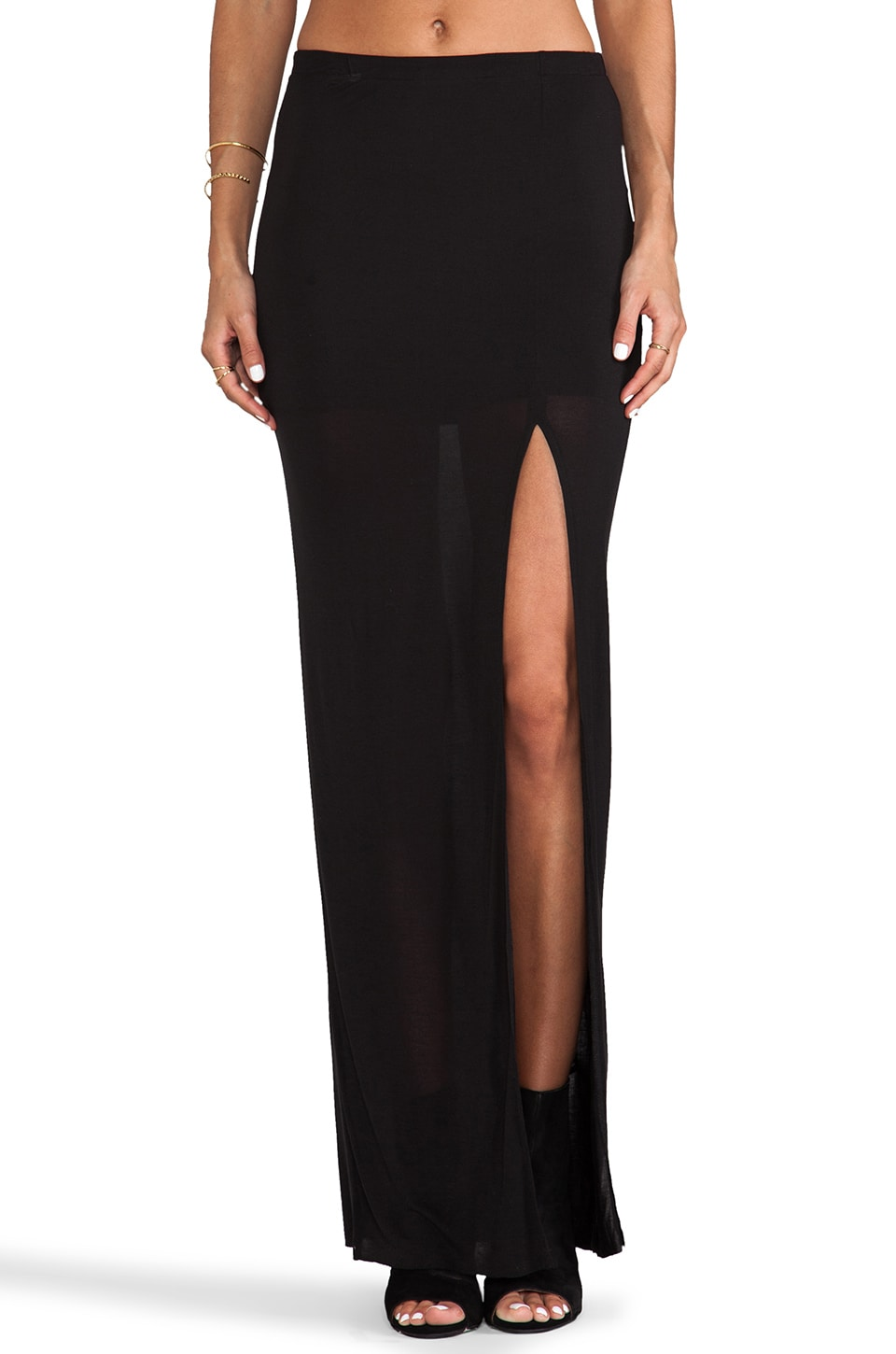 Bella Luxx Column Skirt in Black