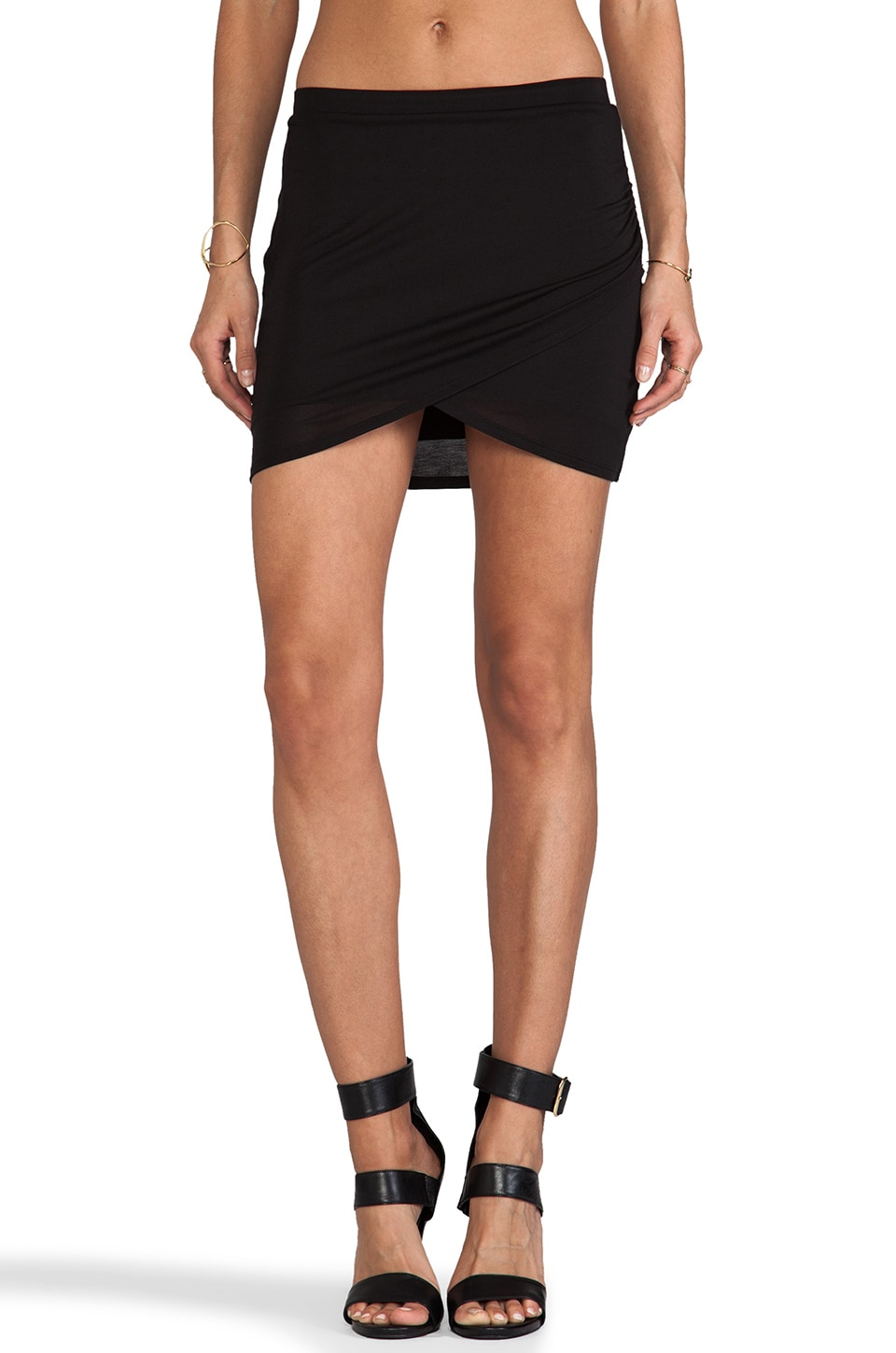 Bella Luxx Tulip Mini Skirt in Black