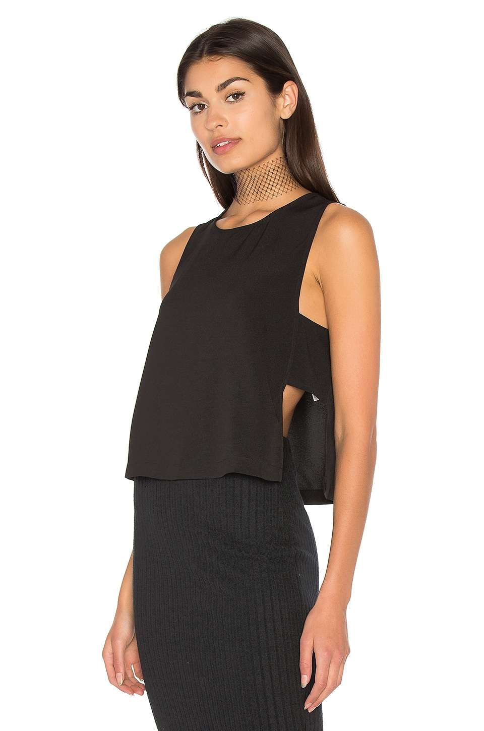Moss Crepe Panel Top by Bella Luxx