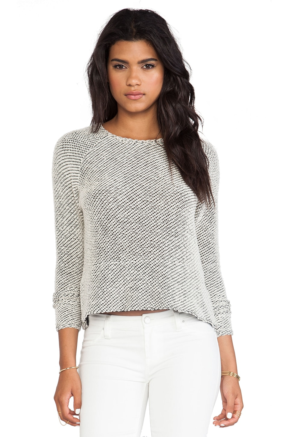 Bella Luxx Long Sleeve Raglan in Natural