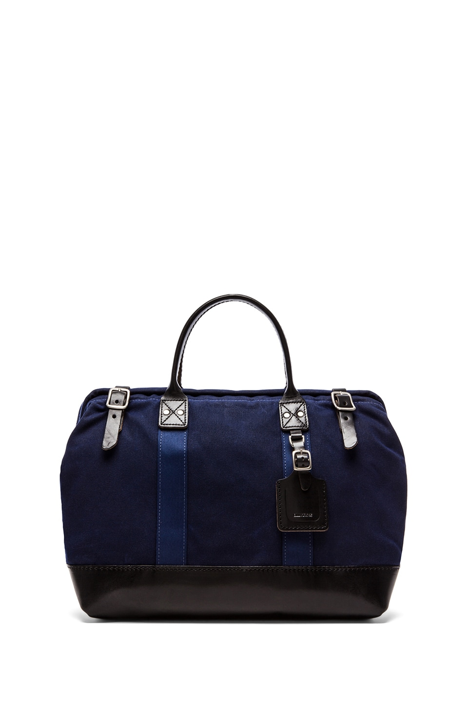 Billykirk No. 165 Medium Carryall in Navy Wax & Black