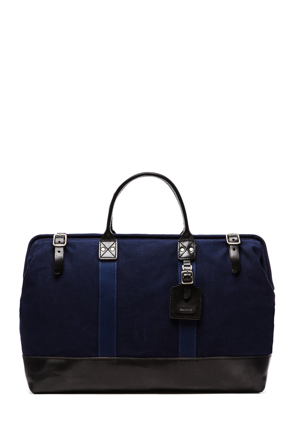 Billykirk No. 166 Large Carryall in Navy Wax & Black