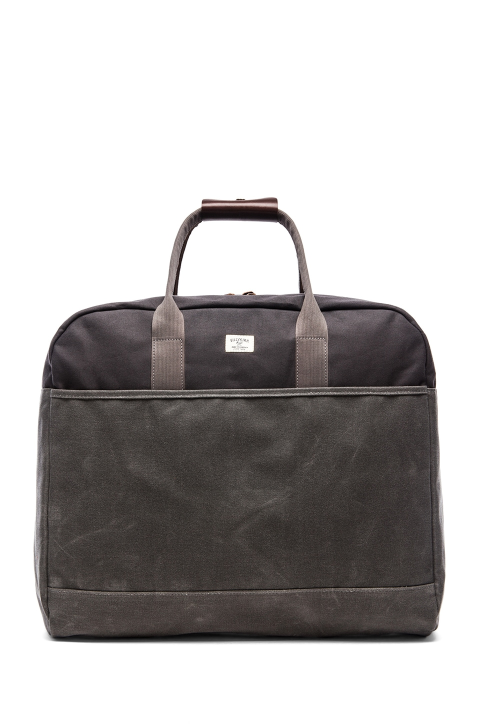 Billykirk No. 330 Military Duffle in Ash Wax W/ Brown