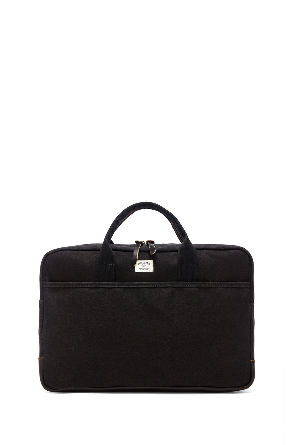 Billykirk No. 332 Attache Case in Black Wax W/ Black