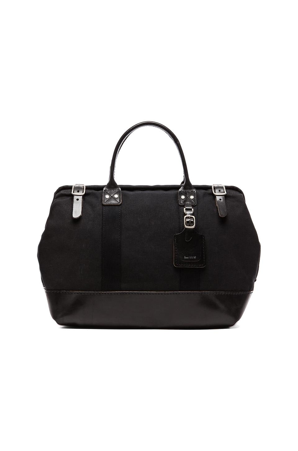 Billykirk Medium Carryall in Black Wax Cotton