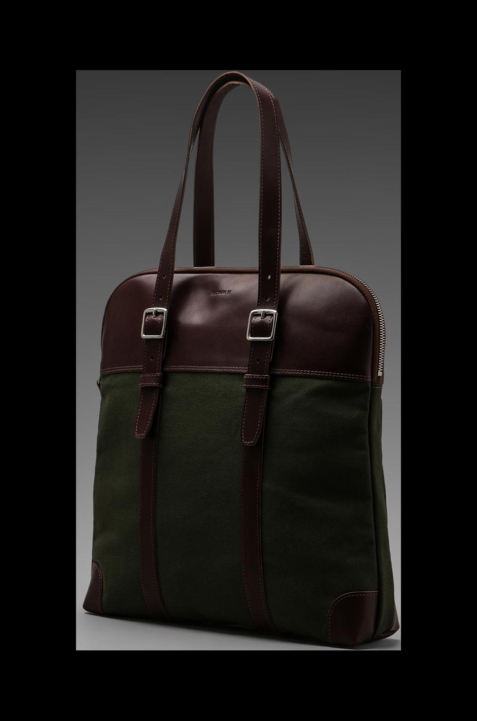 Billykirk Padded Laptop Flight Bag in Olive/Brown