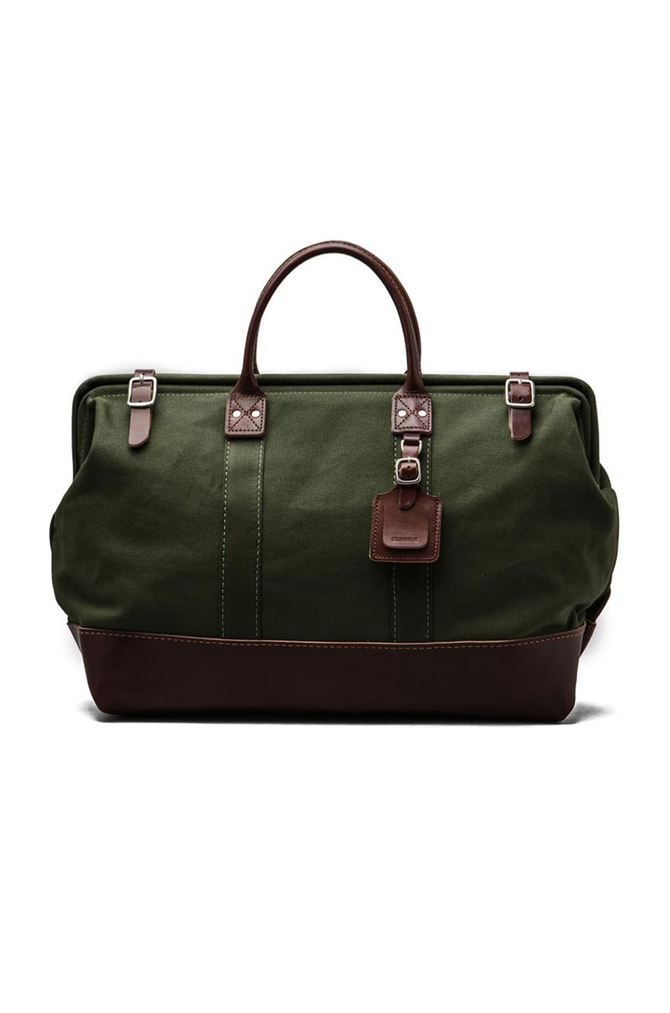 Billykirk No. 166 Large Carryall in Olive With Brown