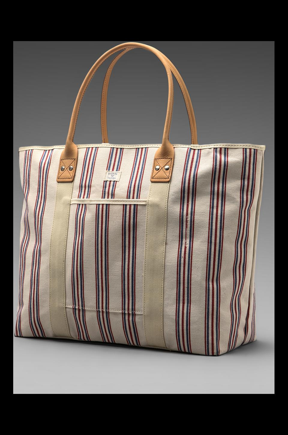 Billykirk No. 296 Big Tote in Red White Blue with Russet