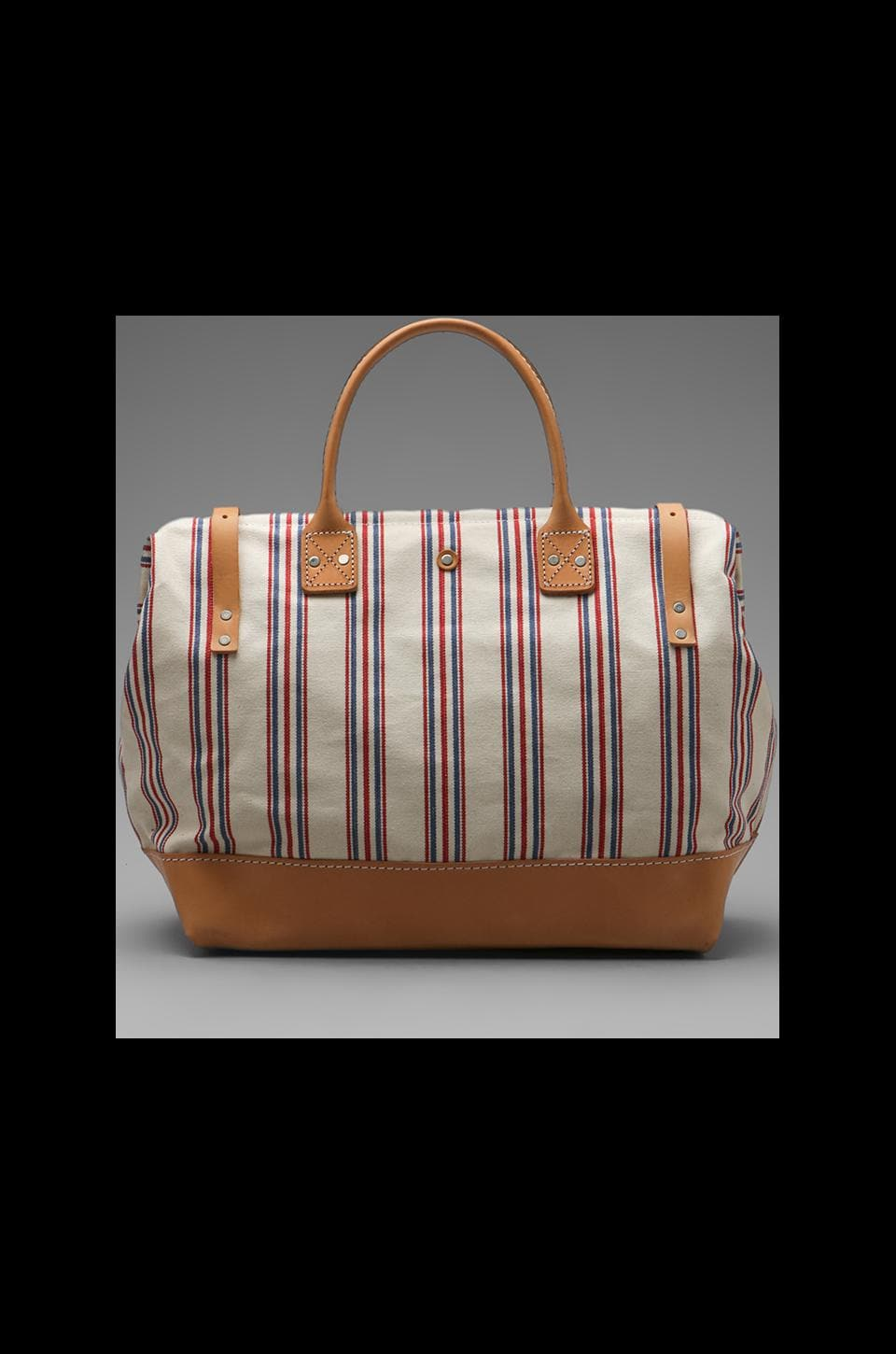 "Billykirk 16"" Carryall in Red White Blue W/Russet"