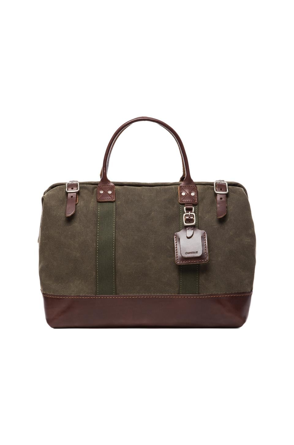 Billykirk No. 165 Medium Carryall en Olive Waxed & Brown