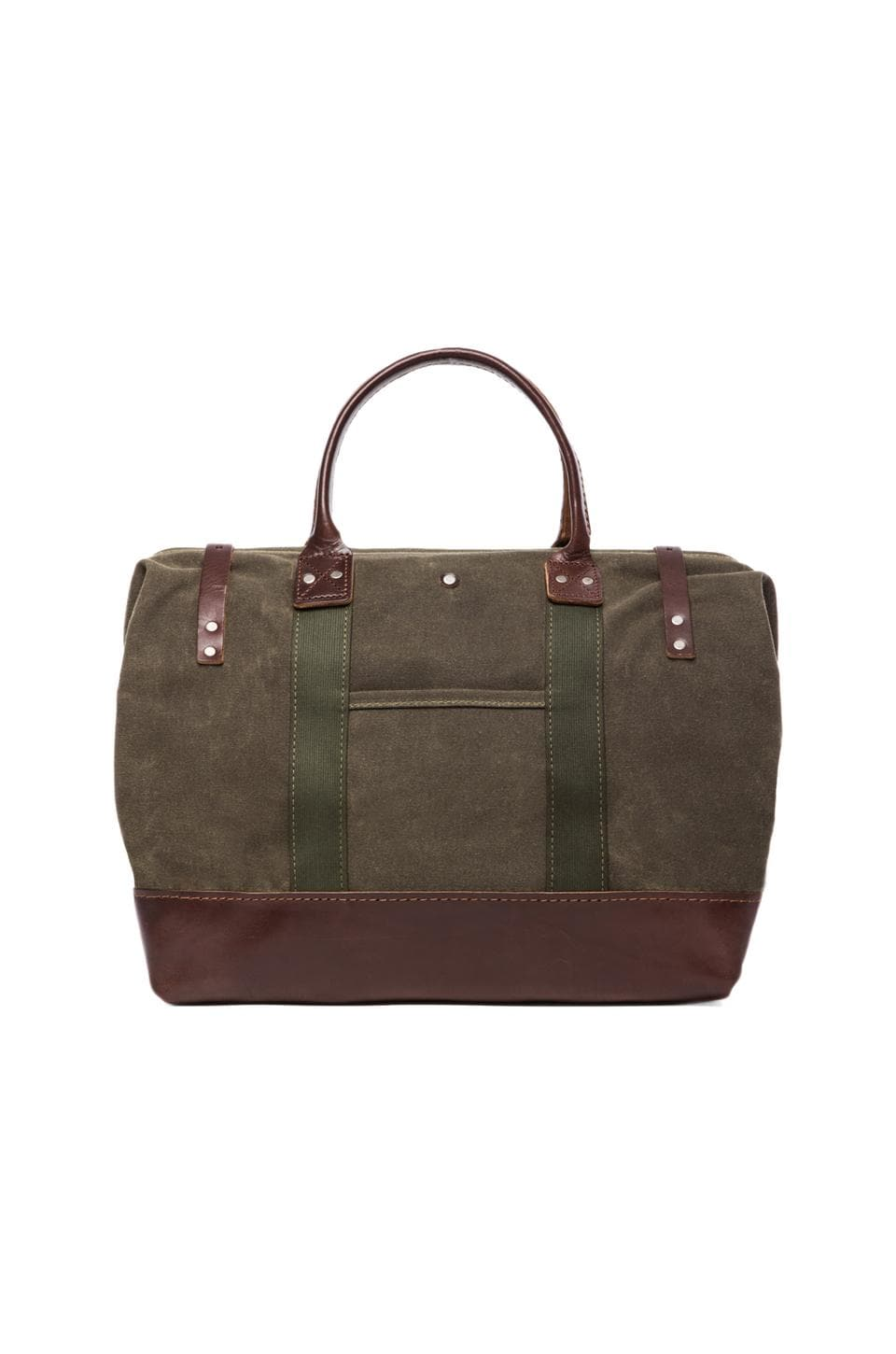 Billykirk No. 165 Medium Carryall in Olive Waxed & Brown
