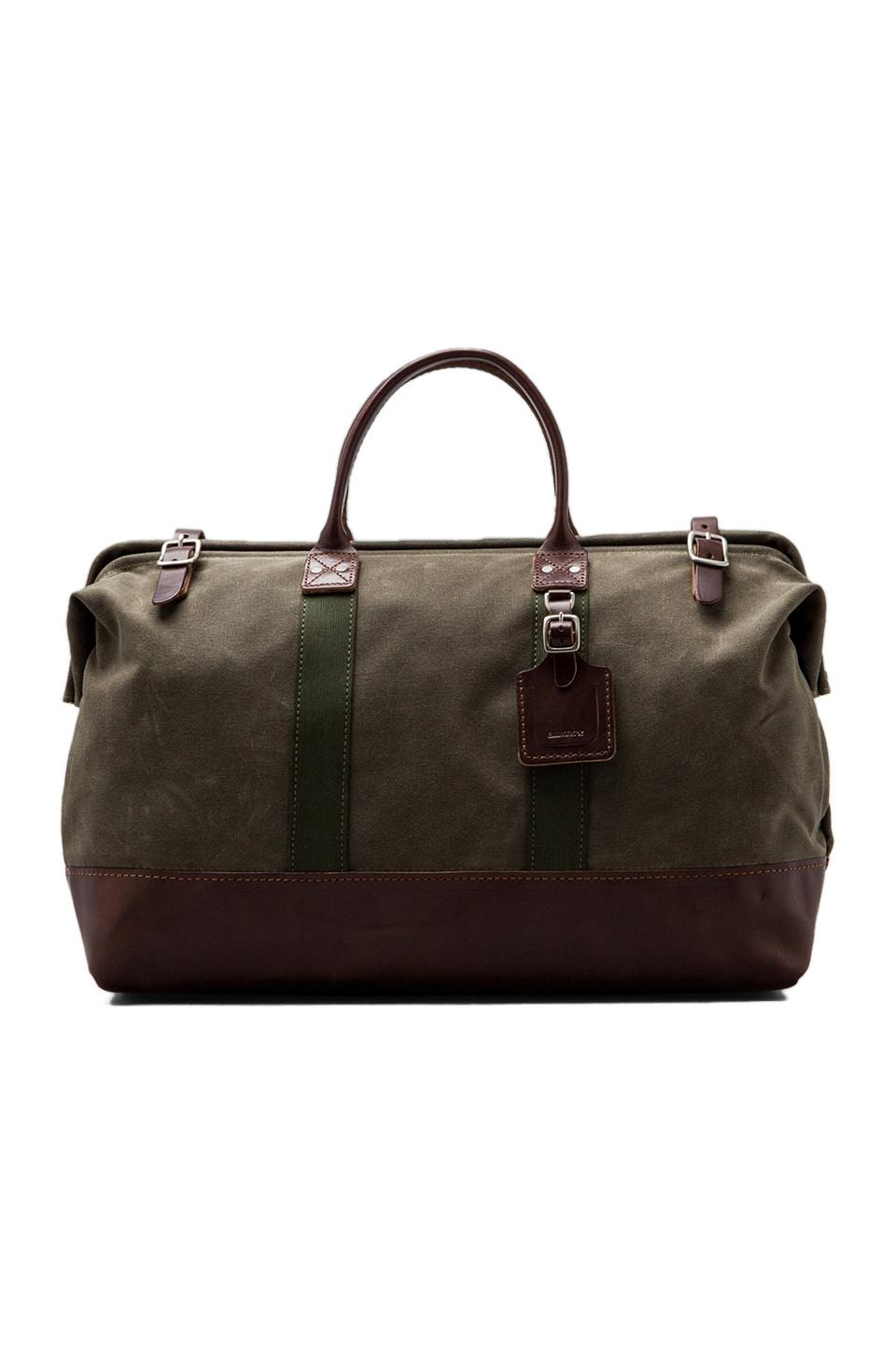 Billykirk No. 166 Large Carryall in Olive Wax/ Brown
