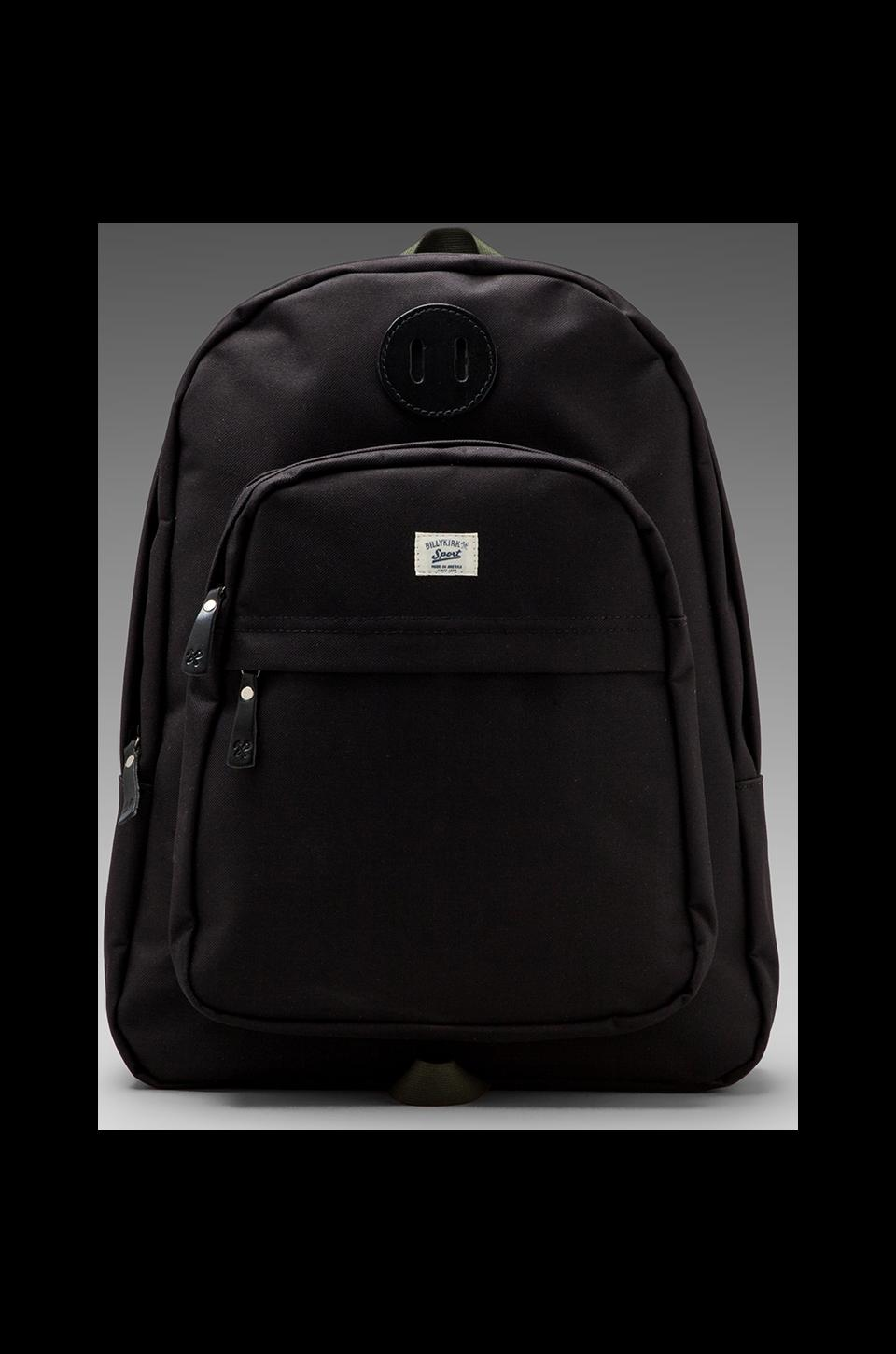 Billykirk No. 297 Zipper Top Backpack in Black/ Olive Sport