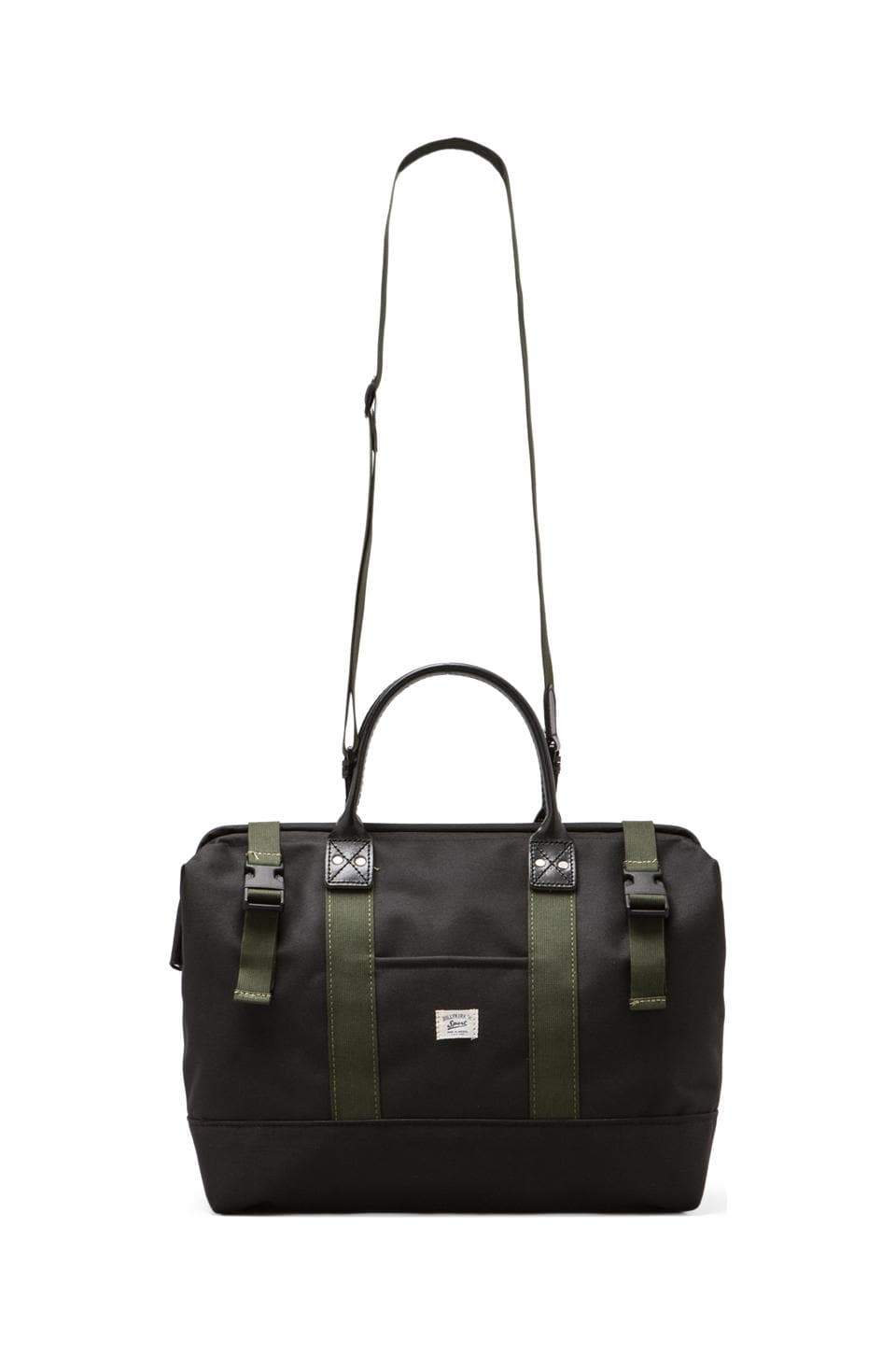 "Billykirk Medium 16"" Sport Carryall in Black/ Olive Sport"