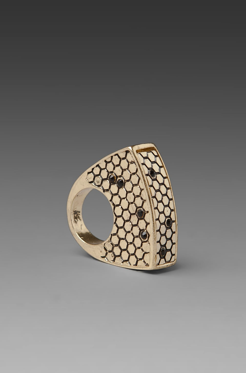 Belle Noel Honey Hexagon Ring in Gold