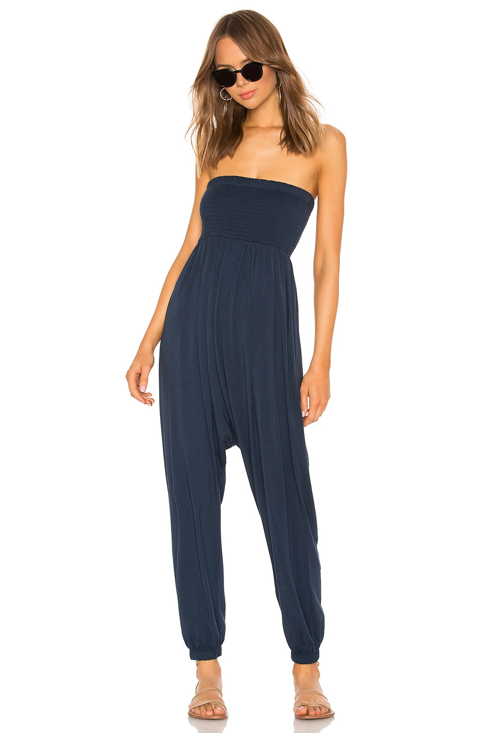 Bobi Draped Jersey Jumpsuit en Nocturnal
