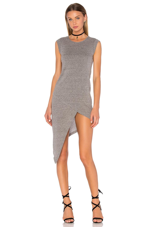 Bobi Speckled Jersey Bodycon Slit Dress in Grey