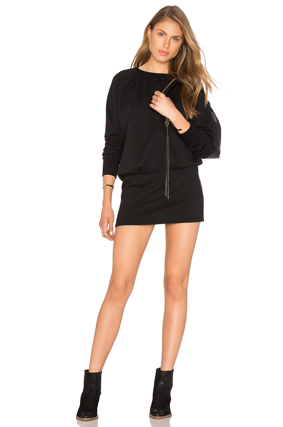 Cozy French Terry Long Sleeve Dress