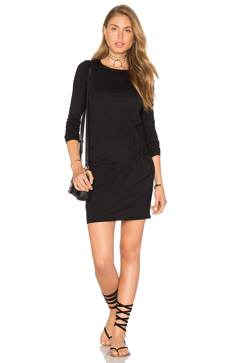 Buy Supreme Jersey Long Sleeve Knot Mini Dress by Bobi