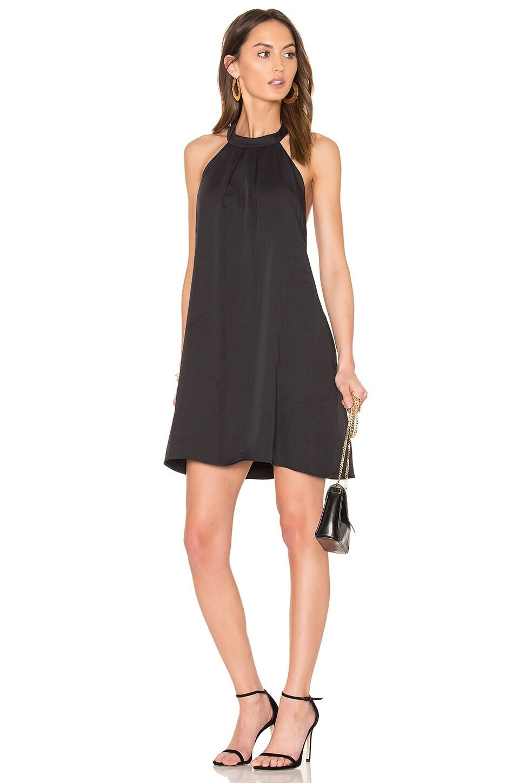 BLACK Woven Halter Dress