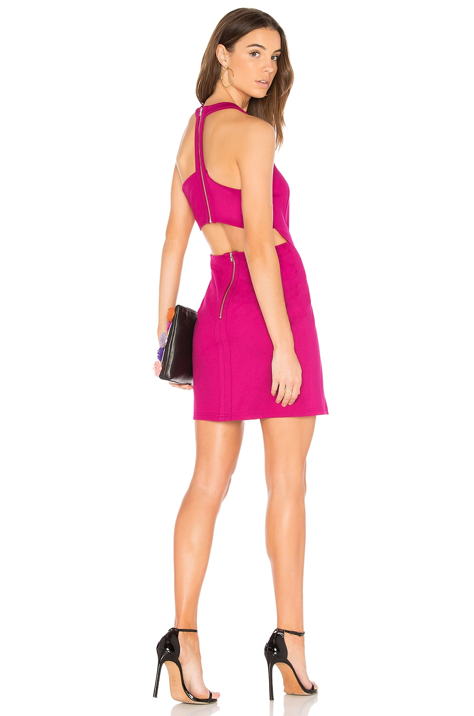 Bobi BLACK Bodycon Dress in Berry