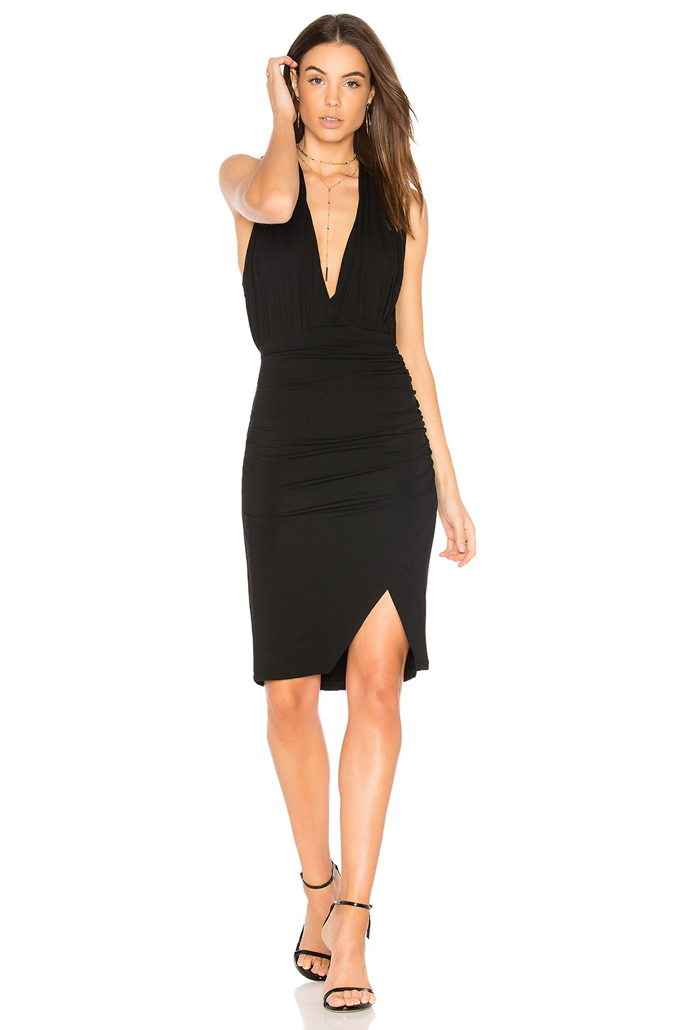 Deep V Mini Dress by Bobi