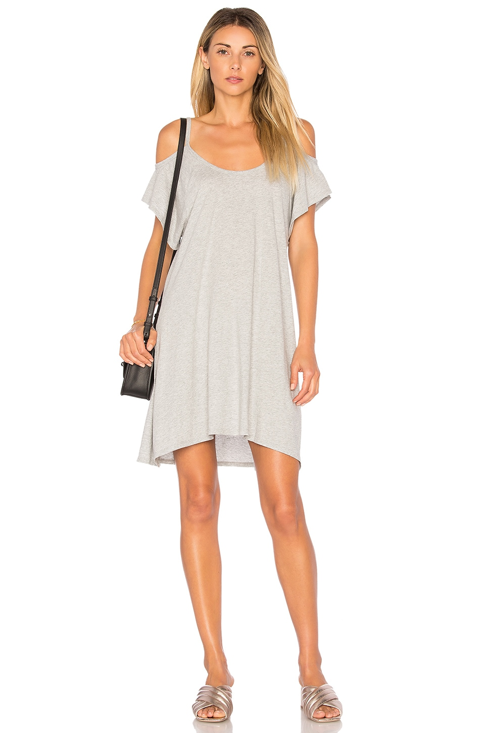 Light Weight Jersey Cold Shoulder Dress by Bobi