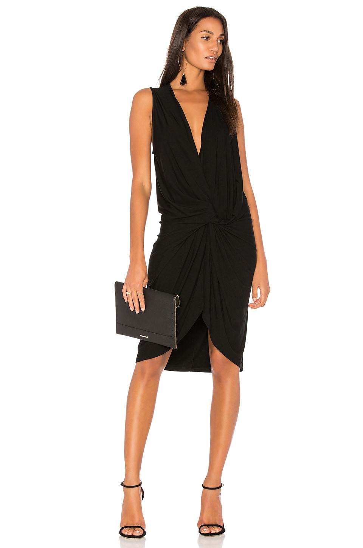 BLACK Twist Front Dress