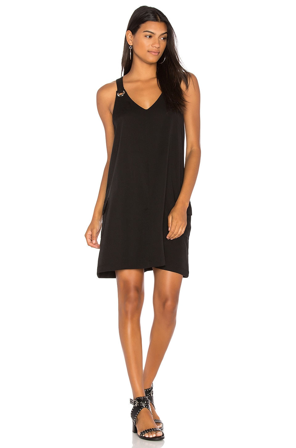 BLACK Grommet Tank Dress by Bobi