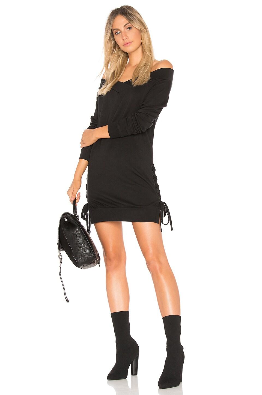 Plush Terry Lace Up Dress by Bobi