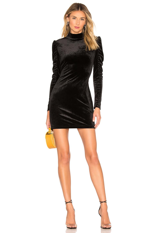 BLACK Liquid Velour Mini Dress