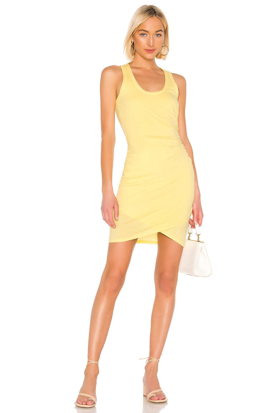Bobi Supreme Jersey Tank Dress in Daffodil