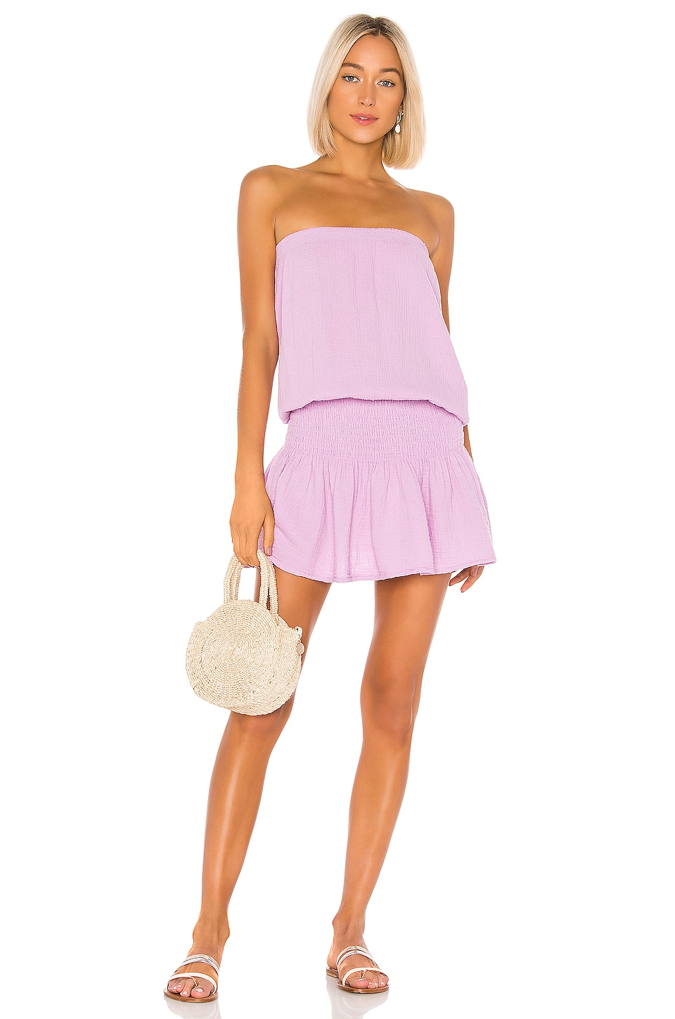 Bobi Beach Gauze Dress in Aster