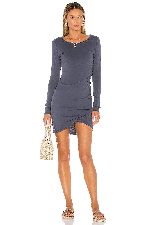 Bobi Supreme Jersey Mini Dress in Granite