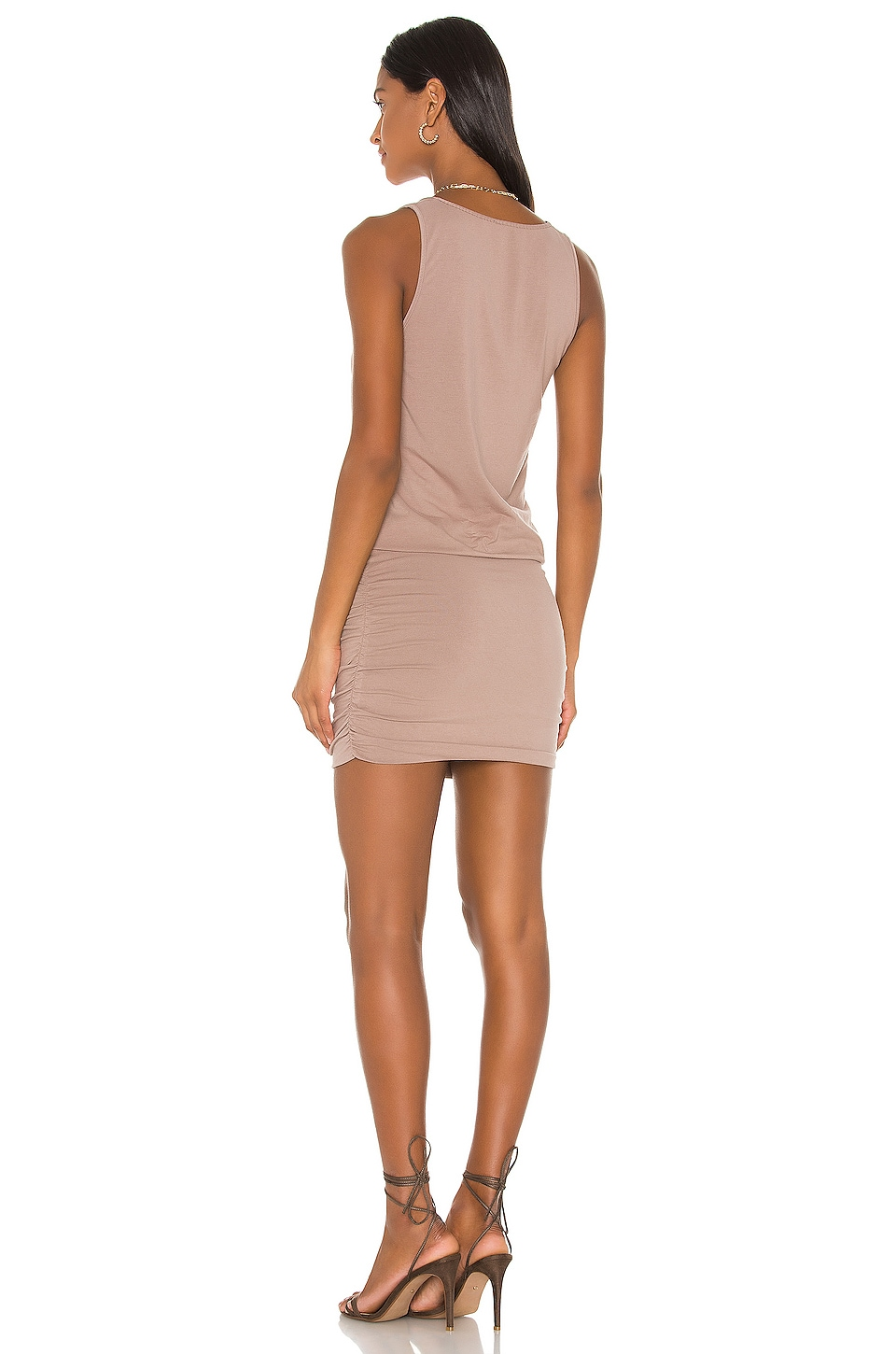 Draped Modal Jersey Mini Dress, view 3, click to view large image.