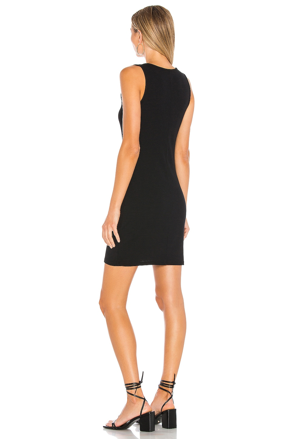 Modal Spandex Rib Bodycon Mini Dress, view 3, click to view large image.