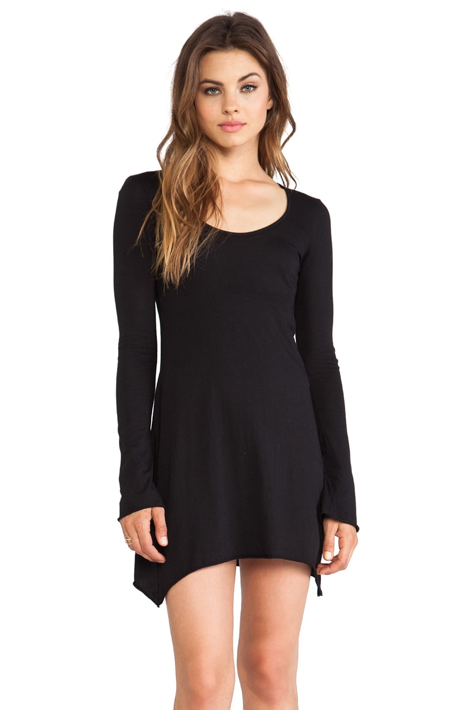 Bobi Light Weight Jersey Tunic in Black